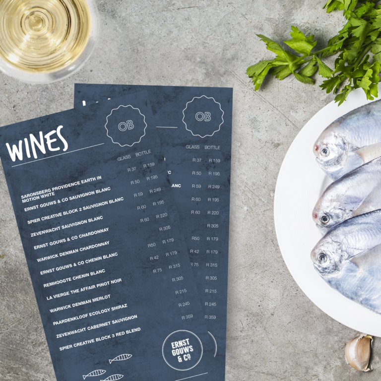 graphic design for wine menu